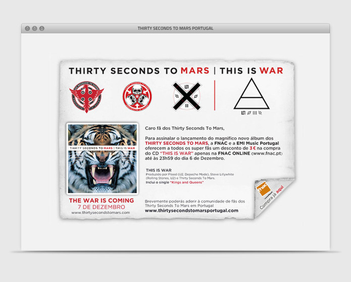 Thirty Seconds To Mars Portugal