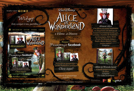 "Campanha ""Alice in Wonderland"""