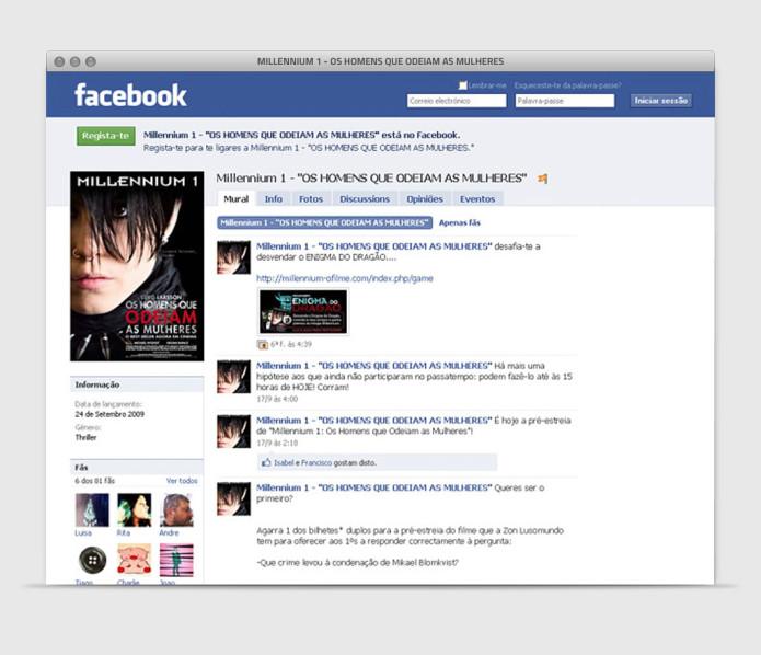 Millennium Facebook