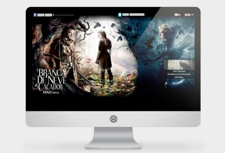 Website A Branca de Neve e o Caçador