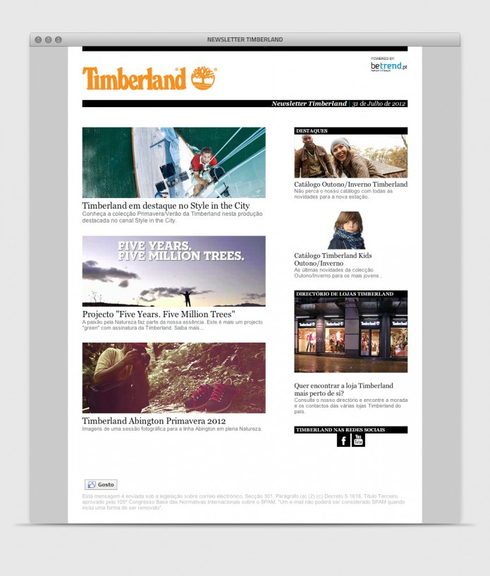 Timberland Newsletter