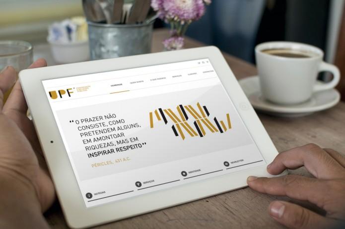 Website UPF Comunicação