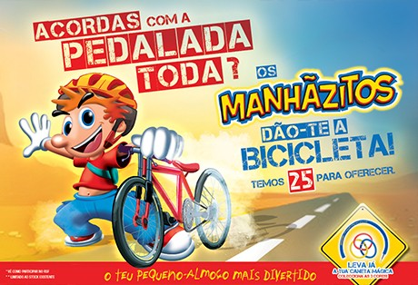 """Campanha Manhãzitos """"Acordas com a pedalada toda?"""""""