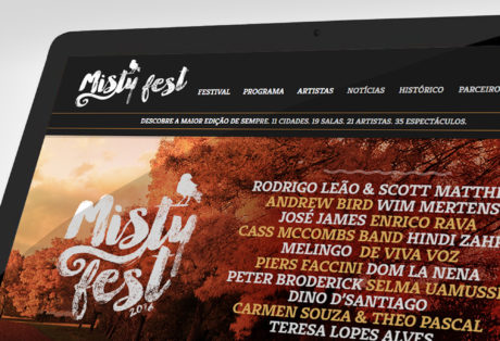 Misty Fest – Redesign de Website