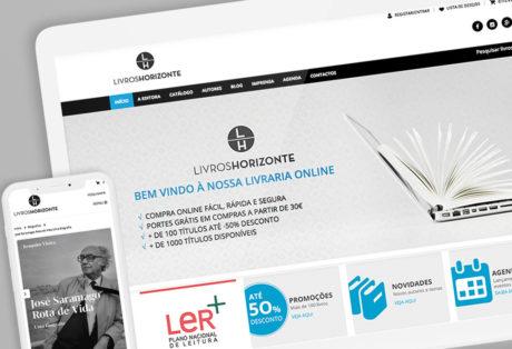 Website Livros Horizonte